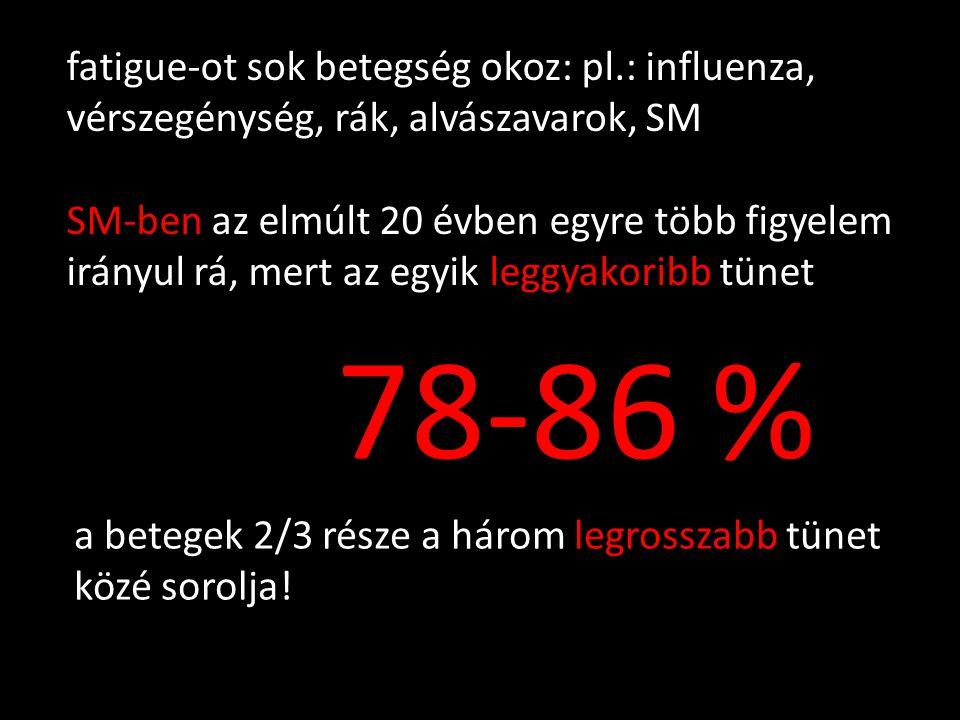 fatigue-ot sok betegség okoz: pl