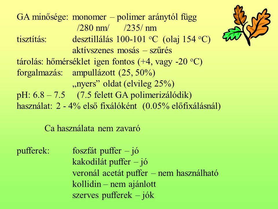GA minősége: monomer – polimer aránytól függ