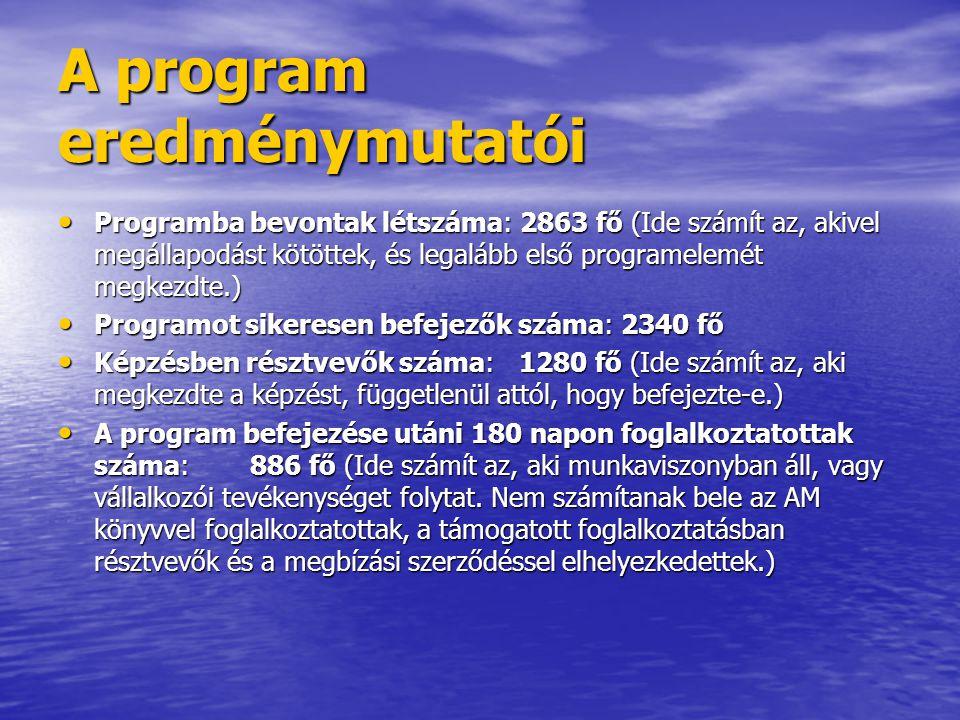 A program eredménymutatói