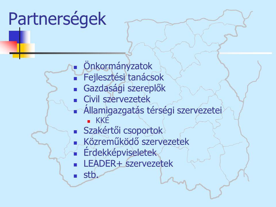 Partnerségek Önkormányzatok Fejlesztési tanácsok Gazdasági szereplők