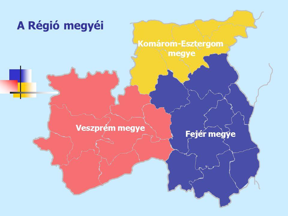 A Régió megyéi Komárom-Esztergom megye Veszprém megye Fejér megye