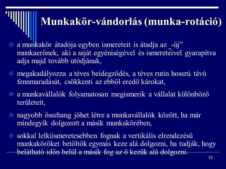 Munkakör-vándorlás (munka-rotáció)