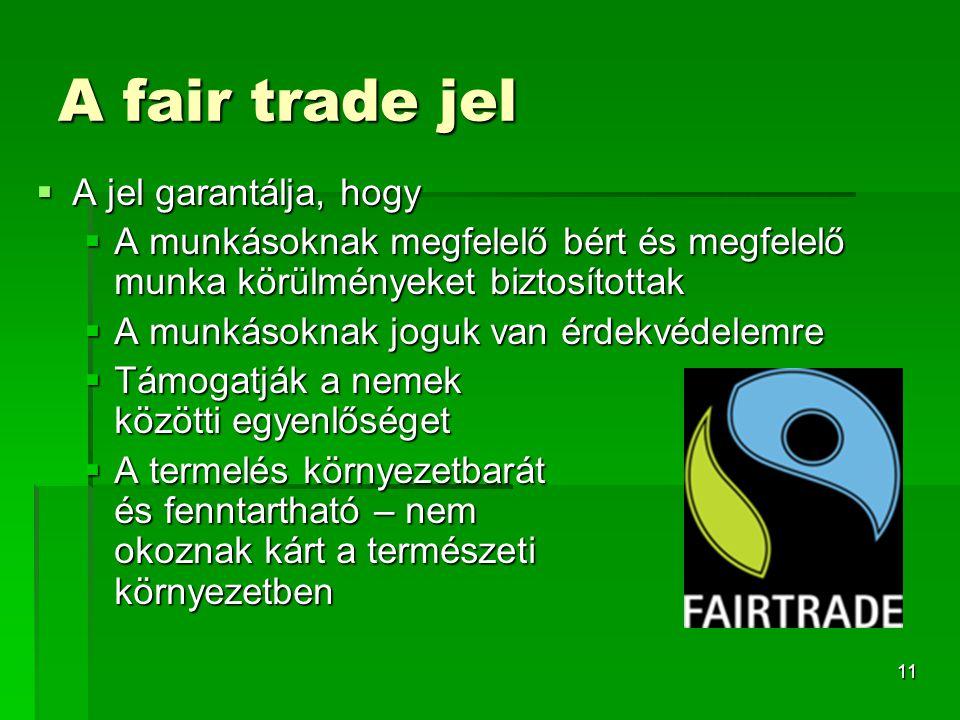 A fair trade jel A jel garantálja, hogy