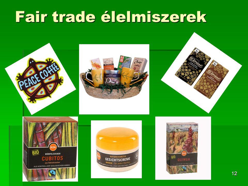 Fair trade élelmiszerek