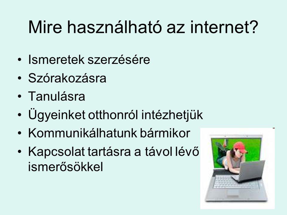 Mire használható az internet
