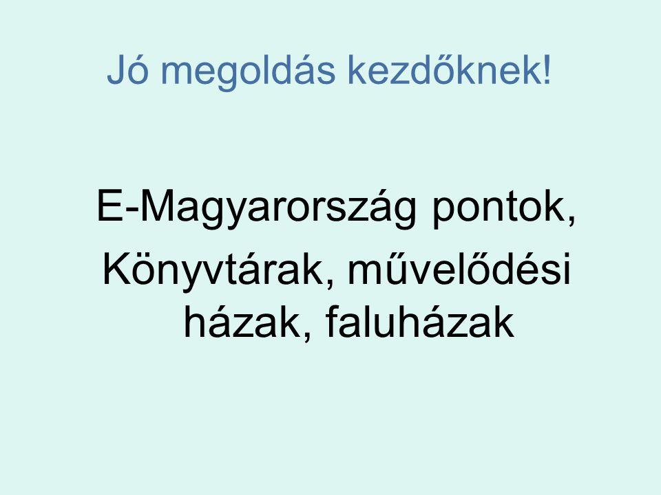 E-Magyarország pontok, Könyvtárak, művelődési házak, faluházak
