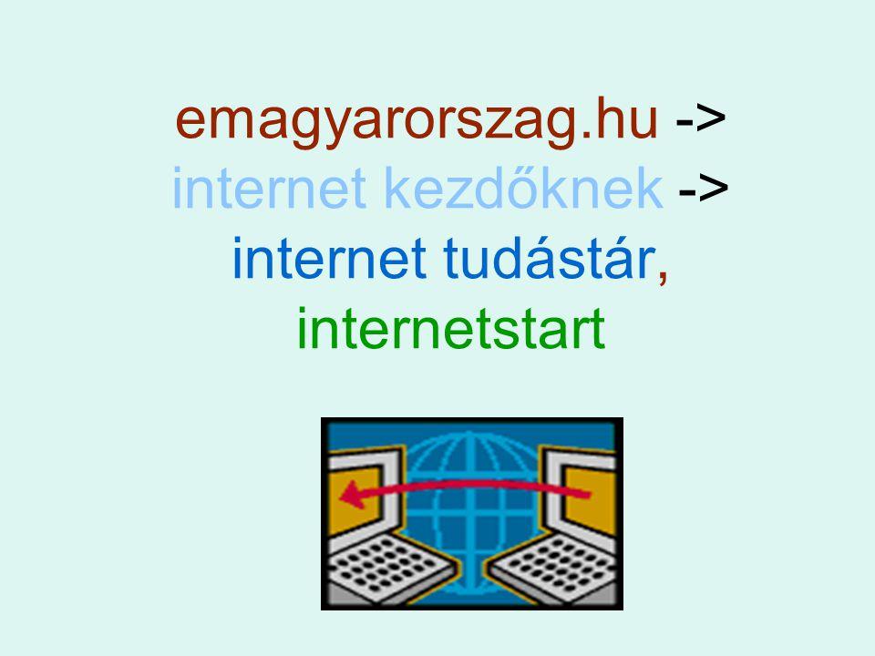 emagyarorszag.hu -> internet kezdőknek -> internet tudástár, internetstart