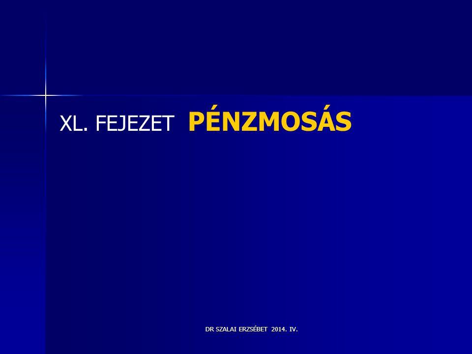 XL. FEJEZET PÉNZMOSÁS DR SZALAI ERZSÉBET 2014. IV.