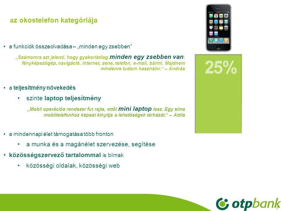 az okostelefon kategóriája