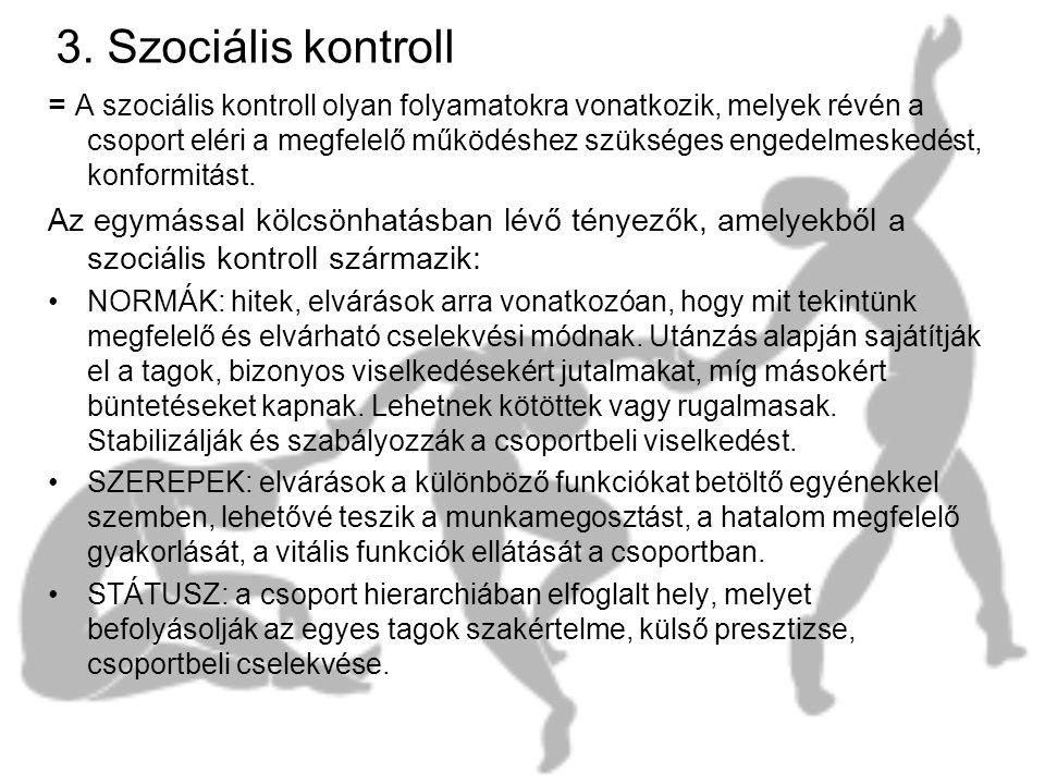 3. Szociális kontroll