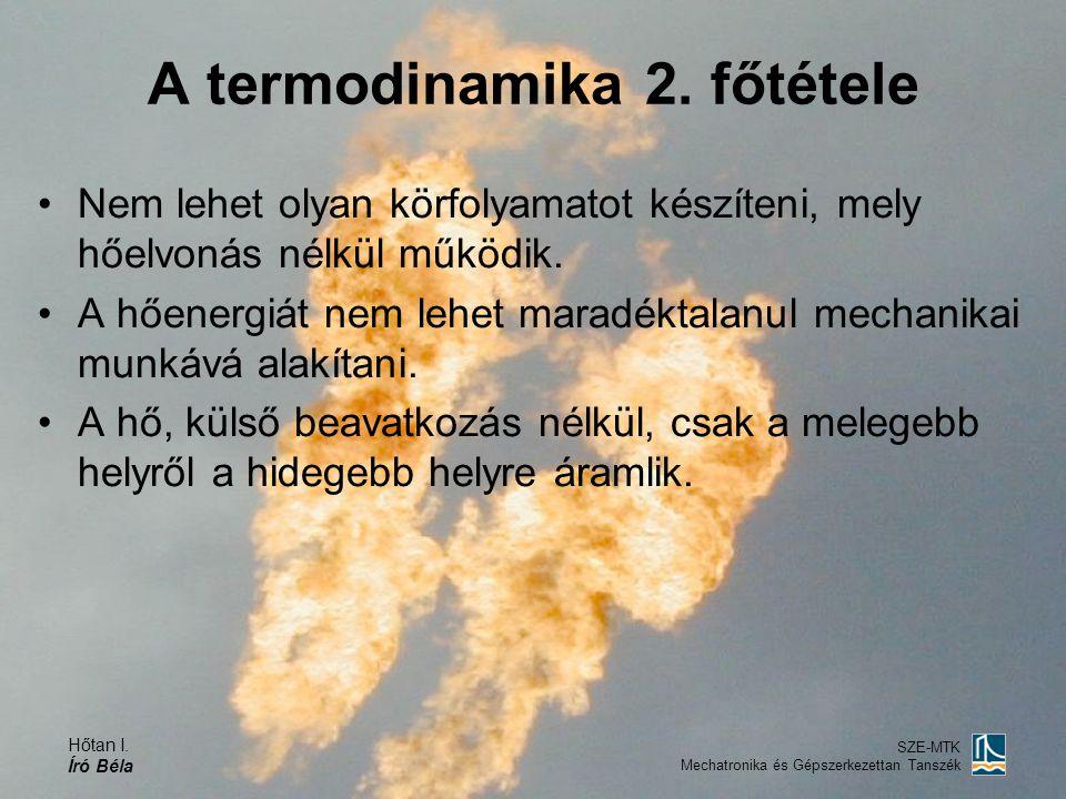 A termodinamika 2. főtétele