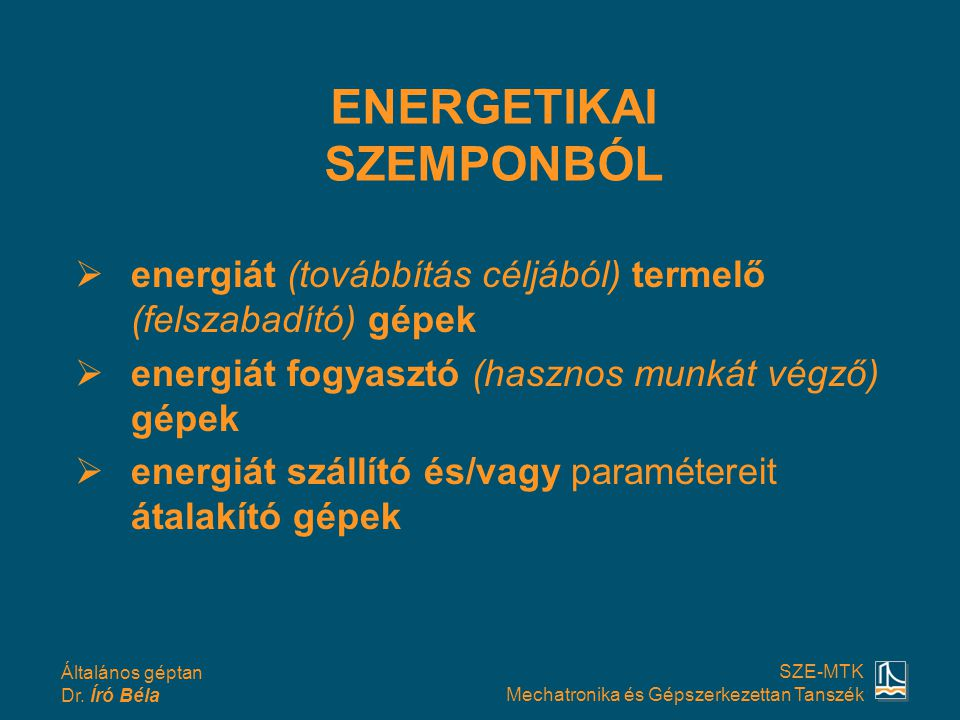 ENERGETIKAI SZEMPONBÓL