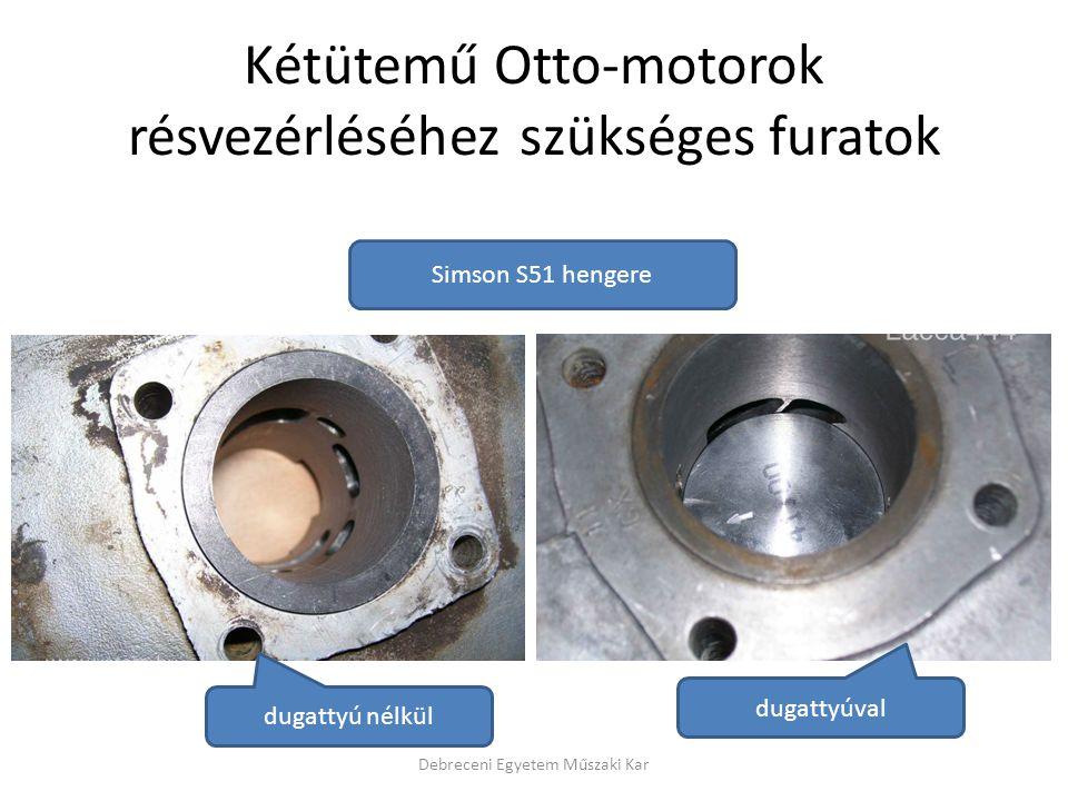 Kétütemű Otto-motorok résvezérléséhez szükséges furatok