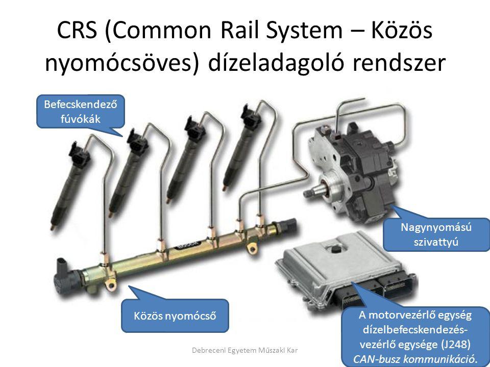 CRS (Common Rail System – Közös nyomócsöves) dízeladagoló rendszer