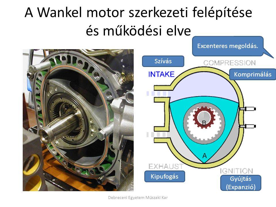 A Wankel motor szerkezeti felépítése és működési elve