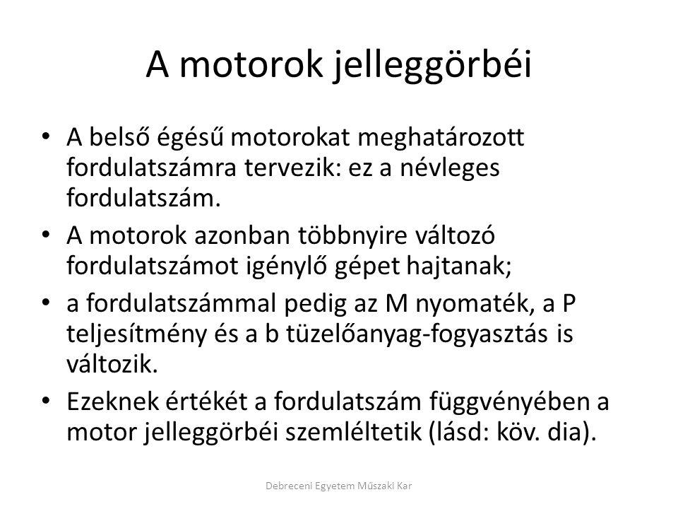 A motorok jelleggörbéi