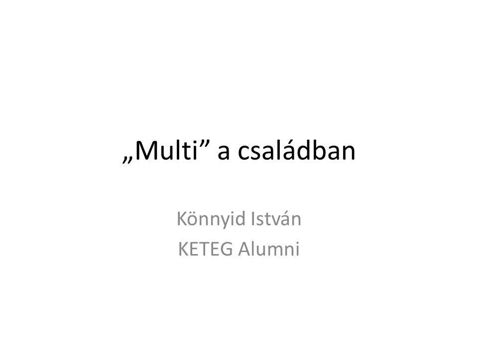 Könnyid István KETEG Alumni