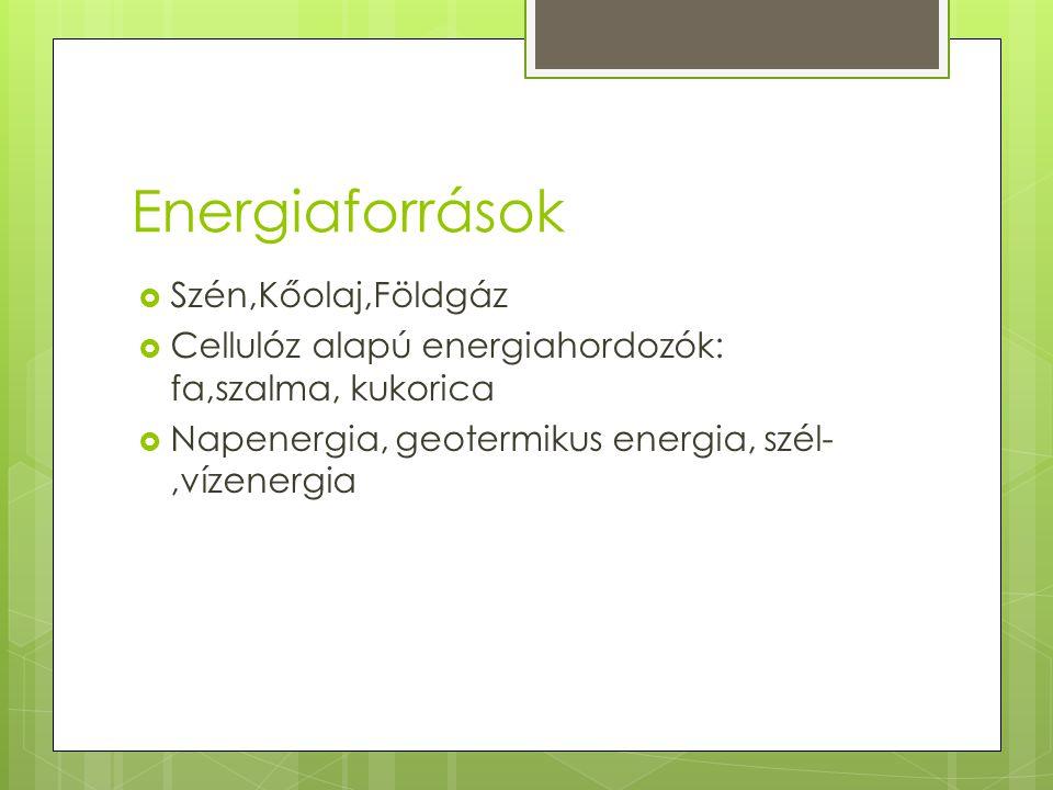 Energiaforrások Szén,Kőolaj,Földgáz