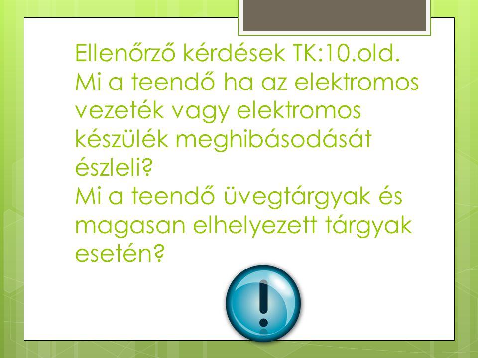 Ellenőrző kérdések TK:10. old