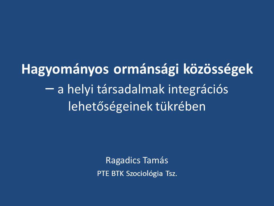 Ragadics Tamás PTE BTK Szociológia Tsz.
