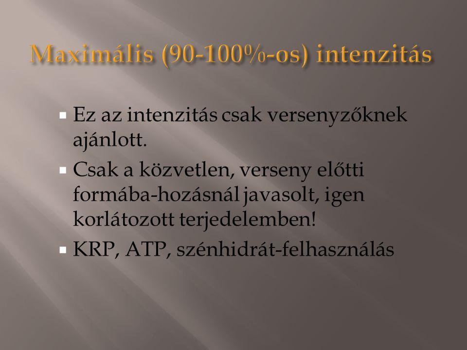 Maximális (90-100%-os) intenzitás