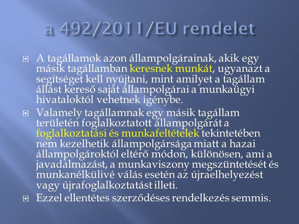 a 492/2011/EU rendelet