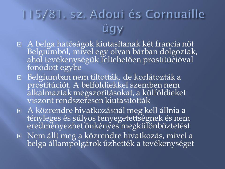 115/81. sz. Adoui és Cornuaille ügy