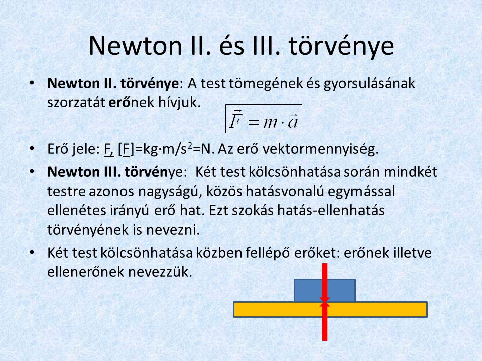 Newton II. és III. törvénye