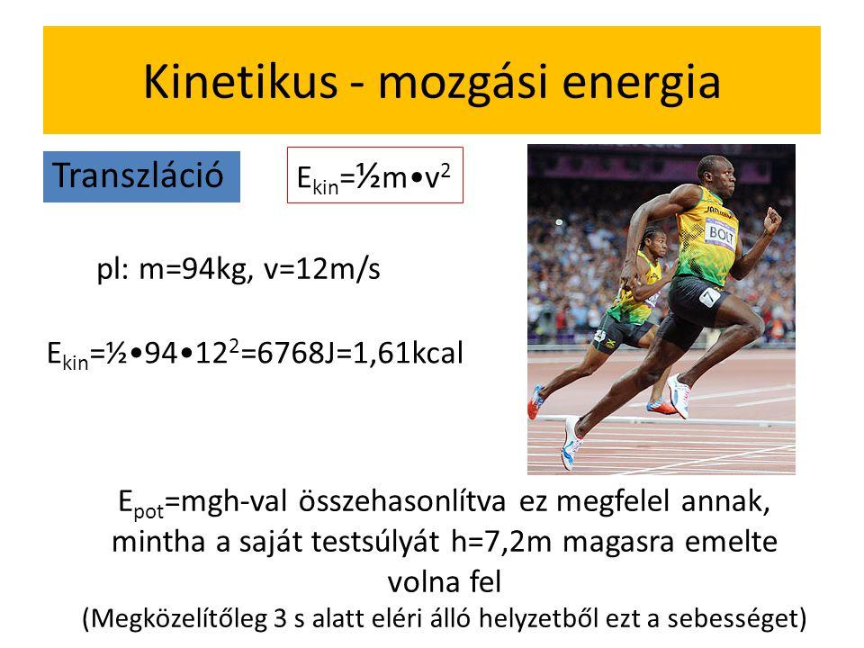 Kinetikus - mozgási energia