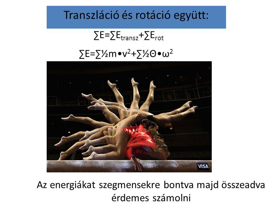 Transzláció és rotáció együtt: