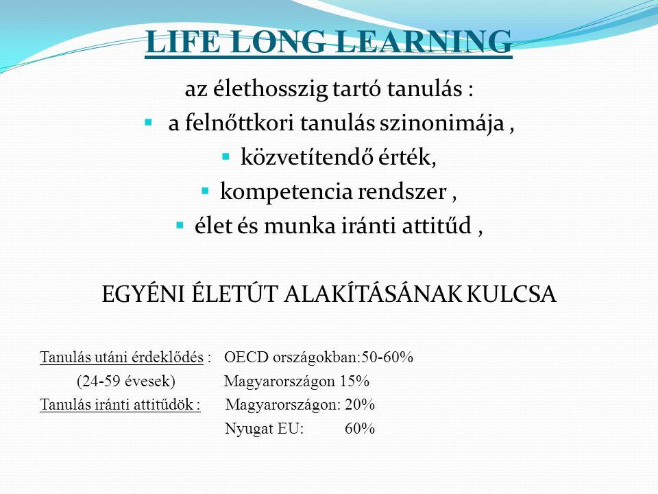 LIFE LONG LEARNING az élethosszig tartó tanulás :