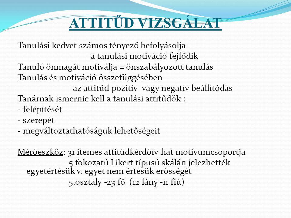 ATTITŰD VIZSGÁLAT
