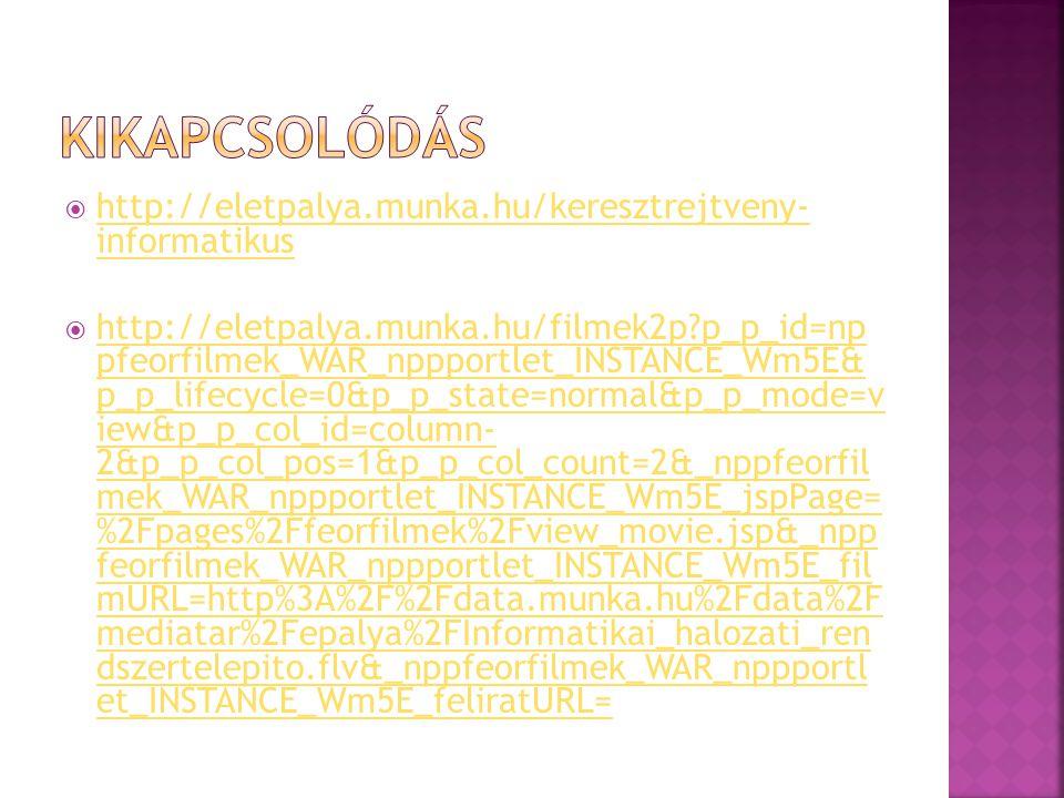 Kikapcsolódás http://eletpalya.munka.hu/keresztrejtveny- informatikus