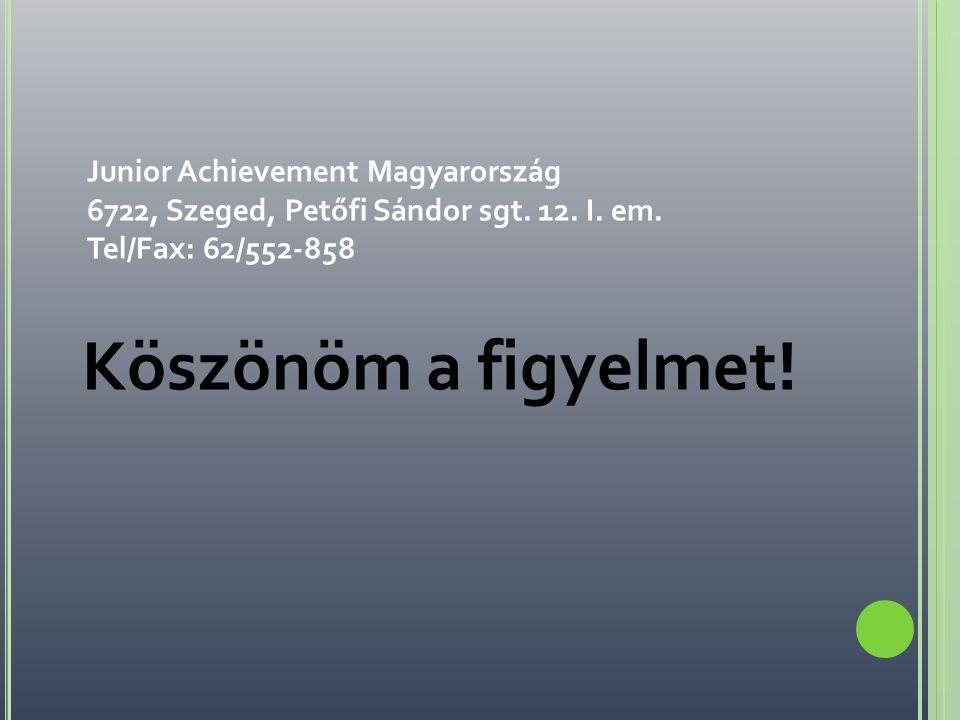 Junior Achievement Magyarország 6722, Szeged, Petőfi Sándor sgt. 12. I