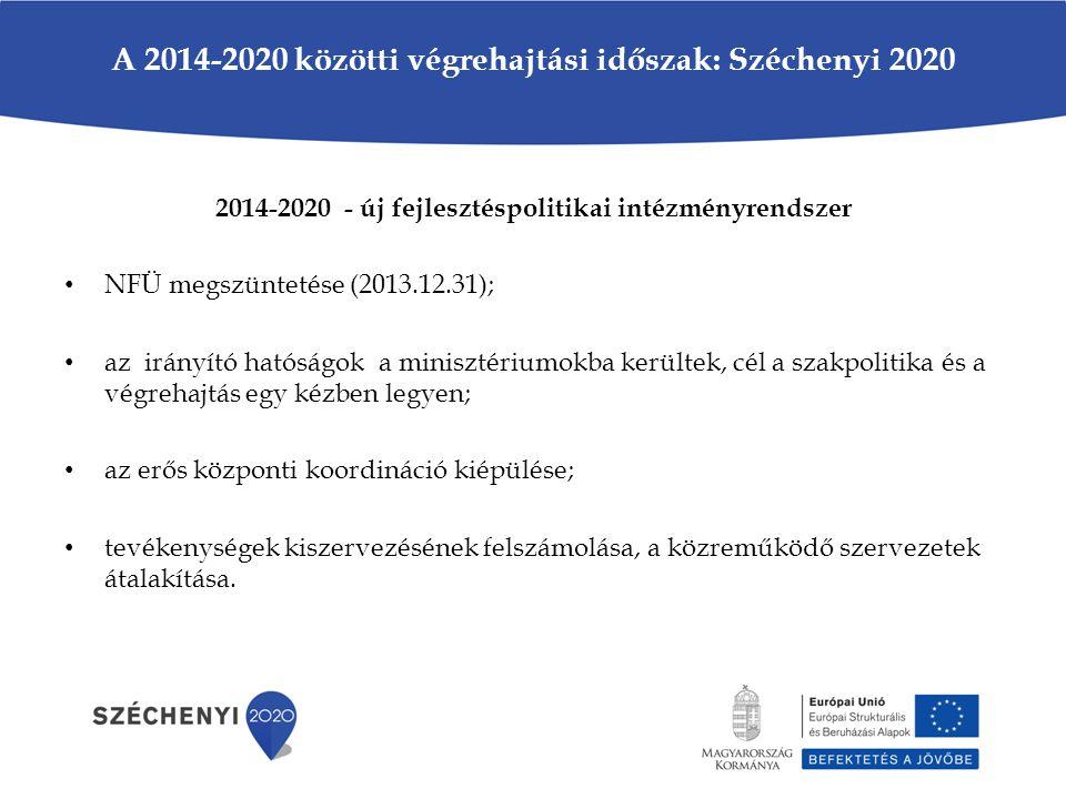 A 2014-2020 közötti végrehajtási időszak: Széchenyi 2020