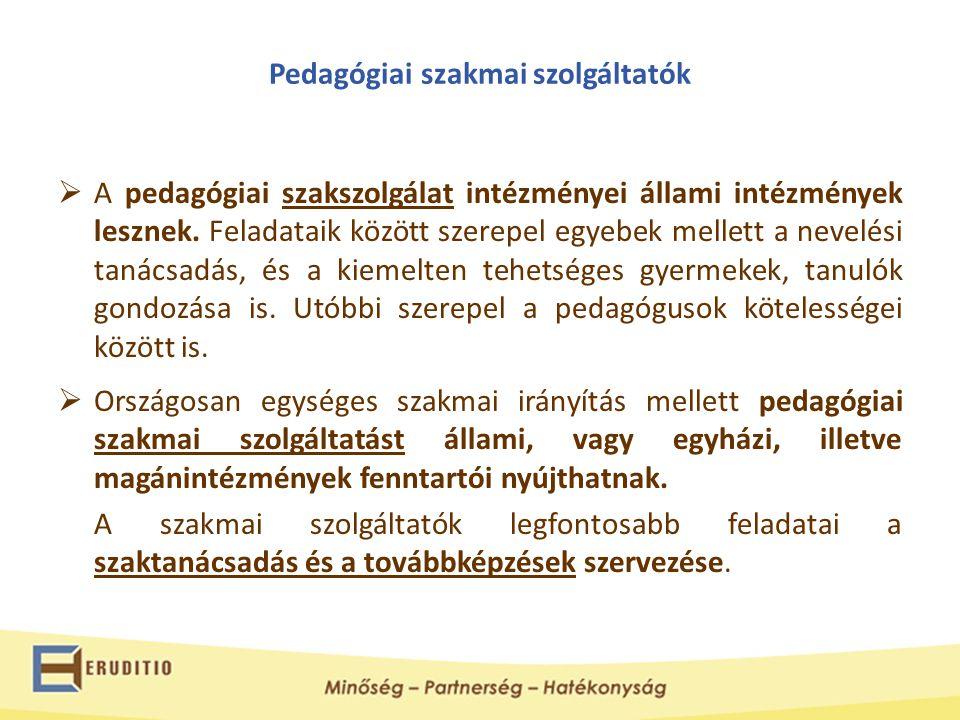 Pedagógiai szakmai szolgáltatók