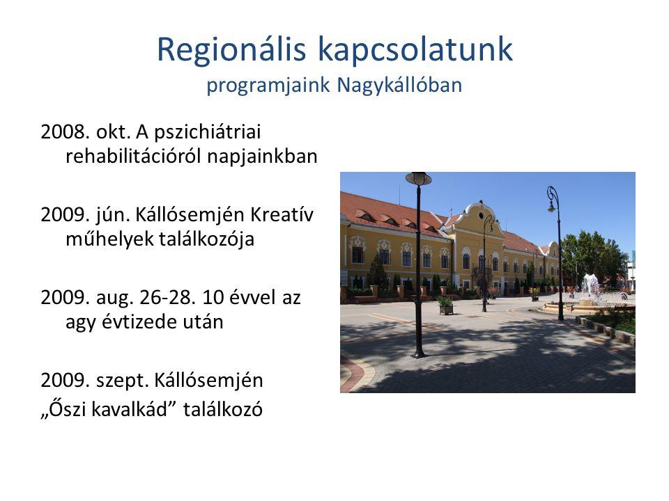 Regionális kapcsolatunk programjaink Nagykállóban