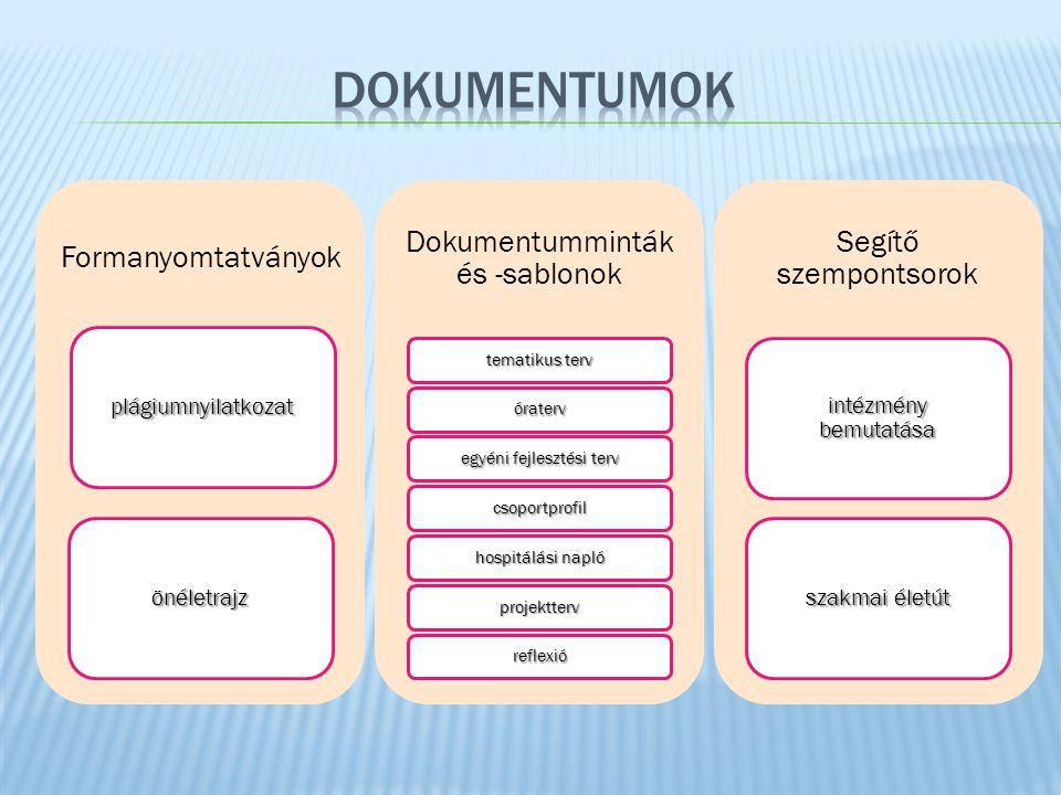 dokumentumok Formanyomtatványok Dokumentumminták és -sablonok