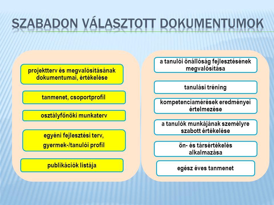 SZABADON VÁLASZTOTT dokumentumok