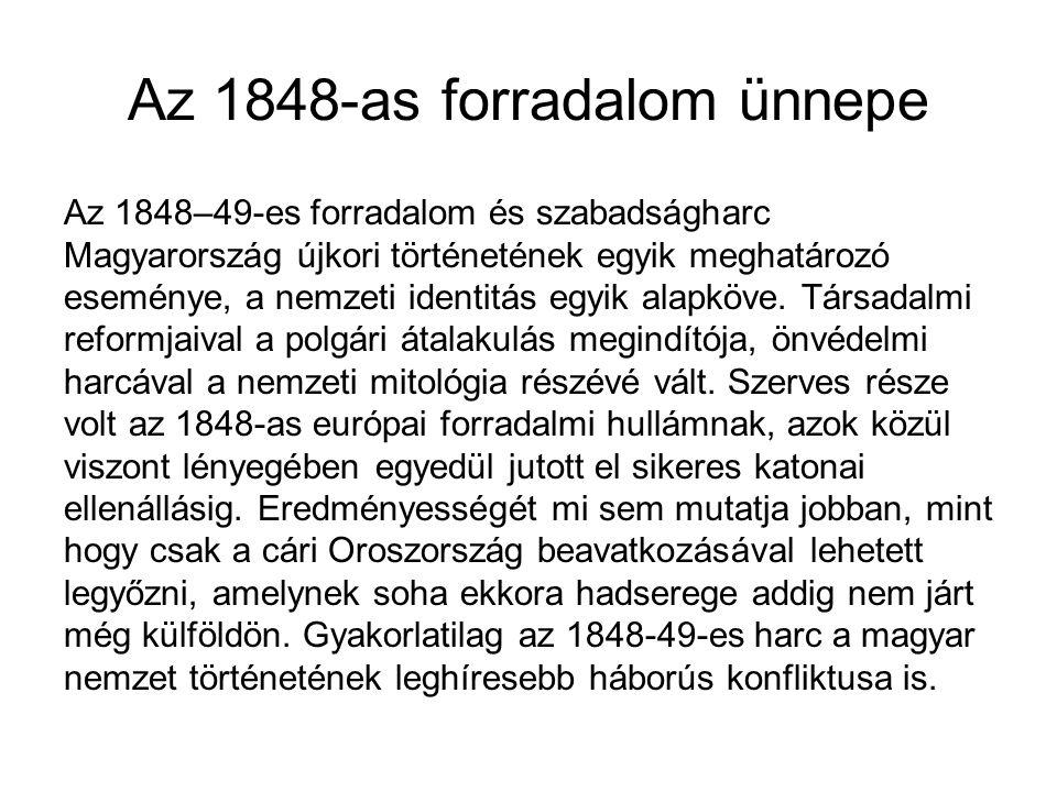 Az 1848-as forradalom ünnepe