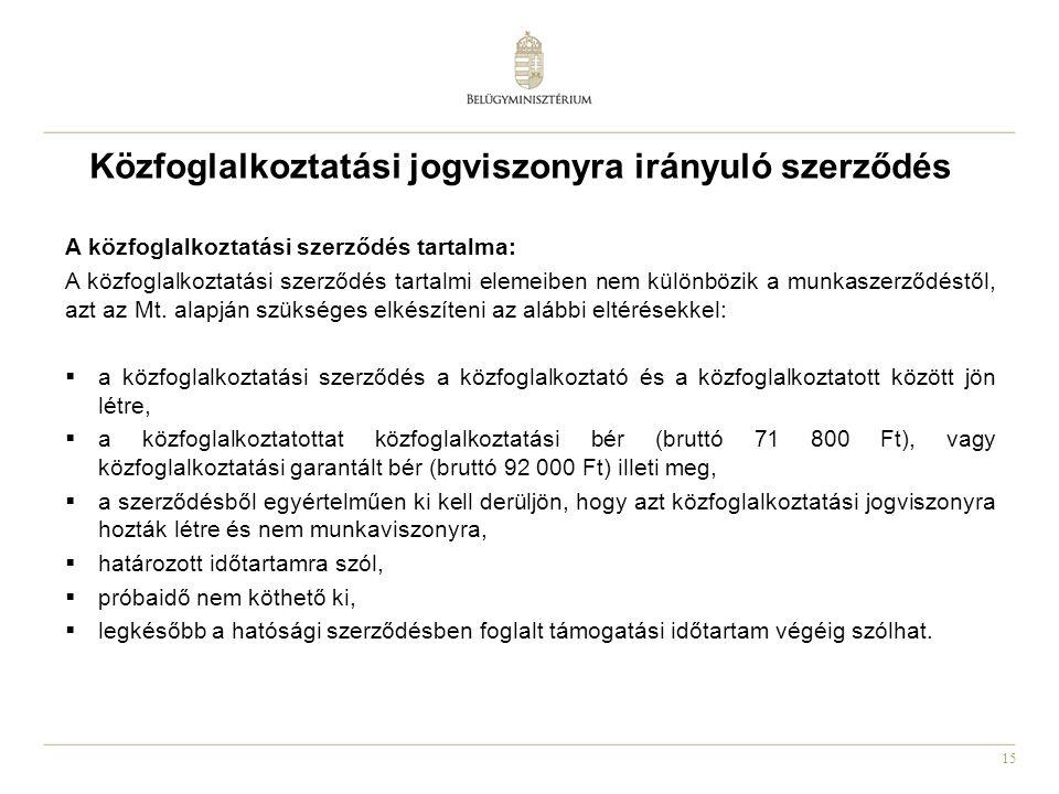 Közfoglalkoztatási jogviszonyra irányuló szerződés