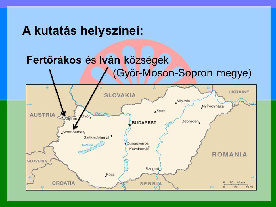 A kutatás helyszínei: Pompsofmso mőpof őa.