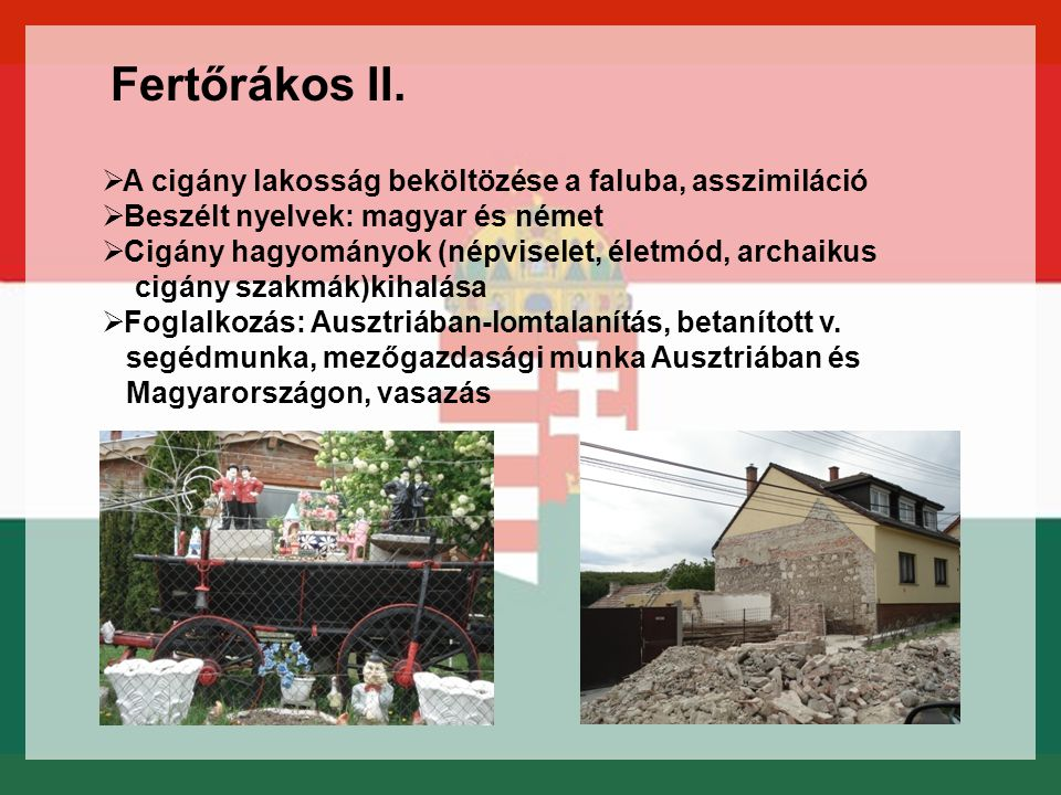 Fertőrákos II. A cigány lakosság beköltözése a faluba, asszimiláció