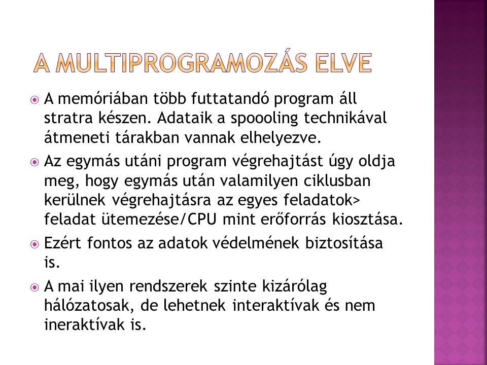 A Multiprogramozás elve