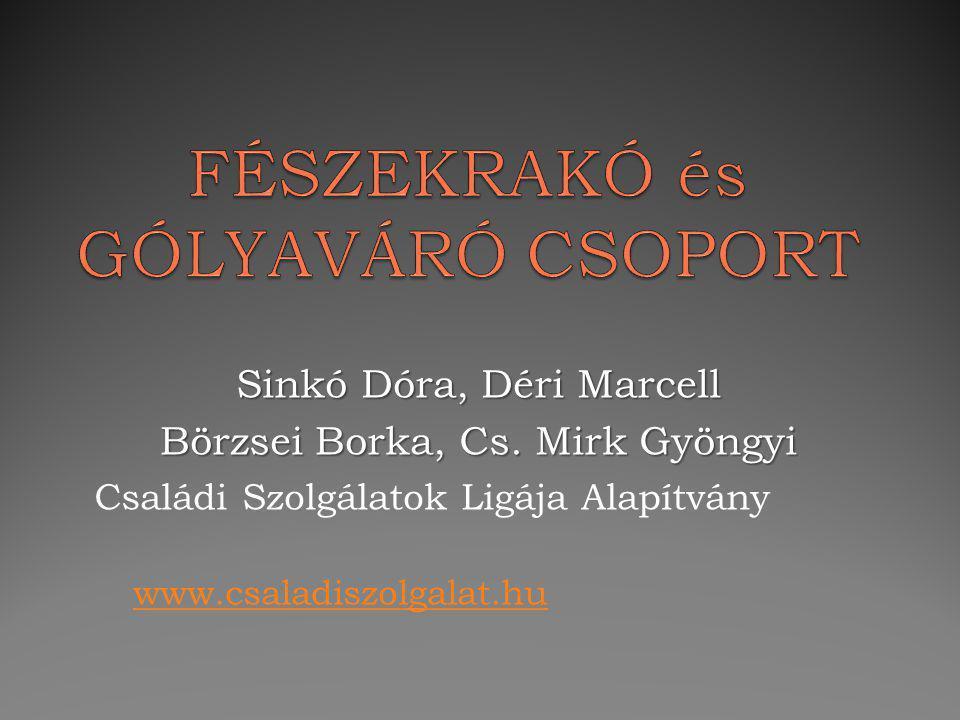 FÉSZEKRAKÓ és GÓLYAVÁRÓ CSOPORT