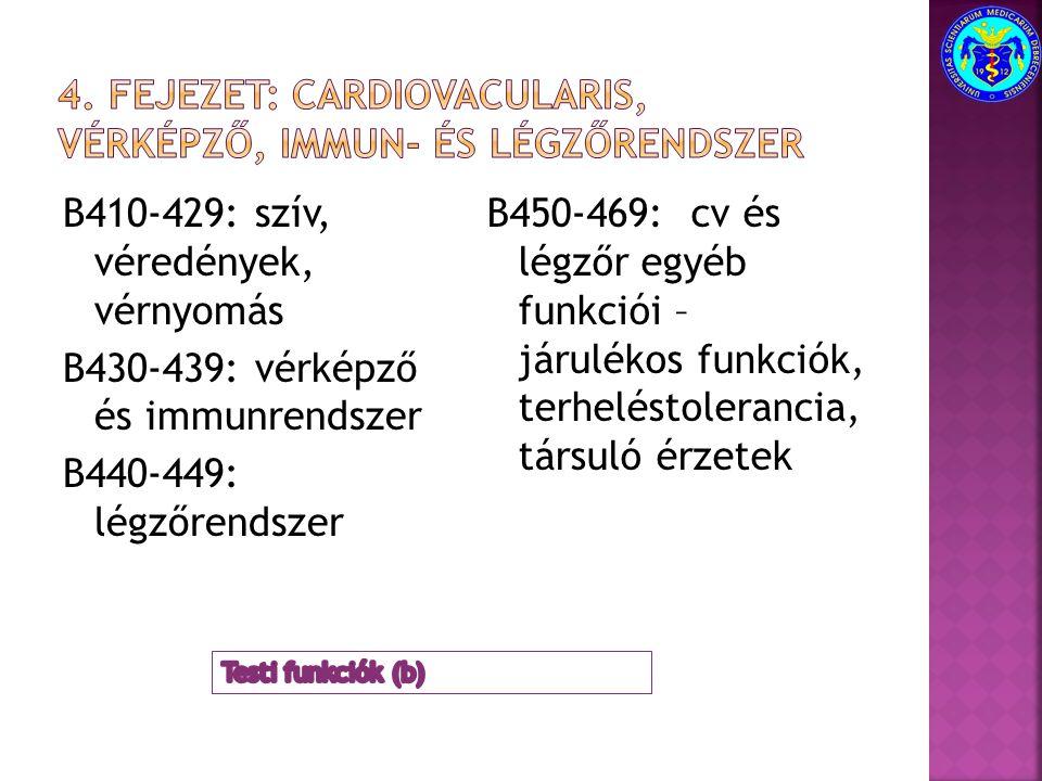 4. fejezet: Cardiovacularis, vérképző, immun- és légzőrendszer