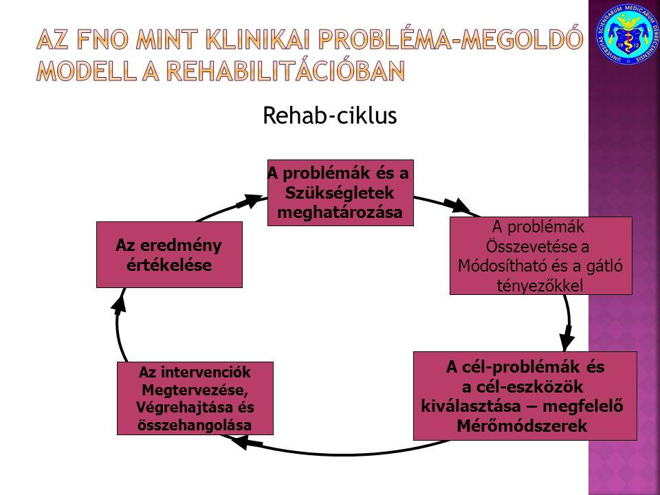 Az FNO mint klinikai probléma-megoldó modell a rehabilitációban