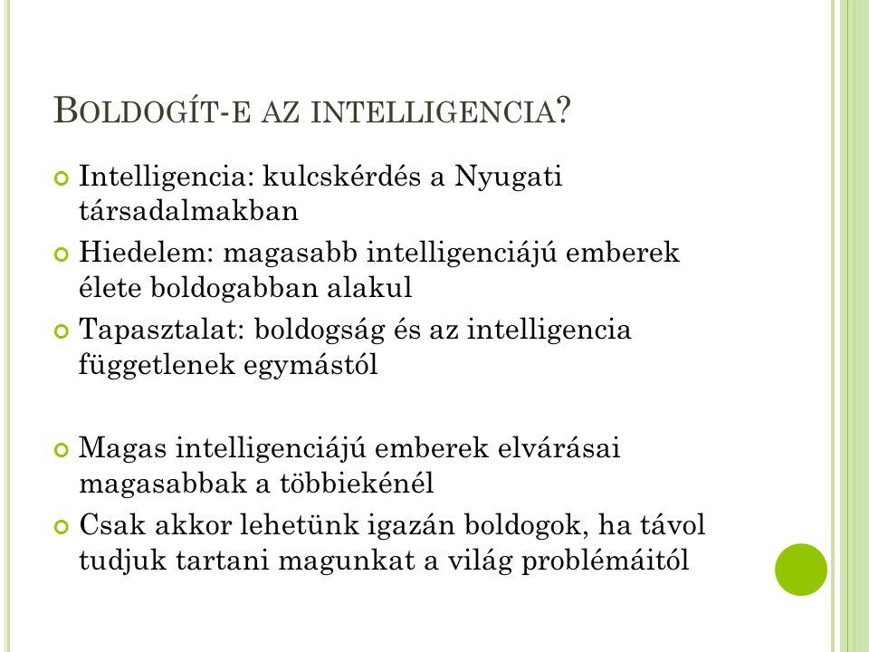 Boldogít-e az intelligencia