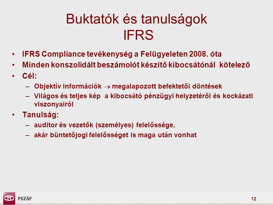 Buktatók és tanulságok IFRS