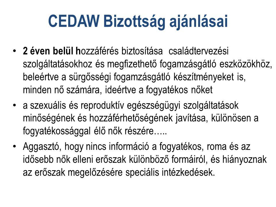 CEDAW Bizottság ajánlásai
